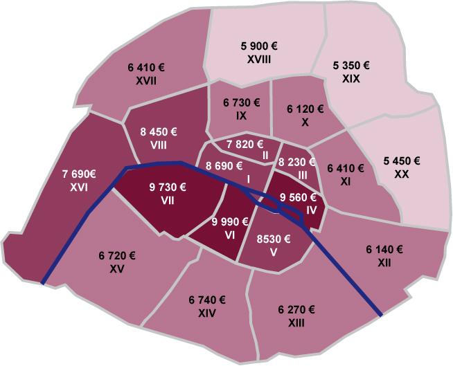 tous les prix de l 39 immobilier parisien du 1er au 20e. Black Bedroom Furniture Sets. Home Design Ideas